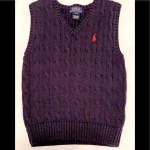 Ralph Lauren Boys  4T vest Navy